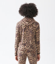 Load image into Gallery viewer, Michael Stars Cody Leopard Hoodie