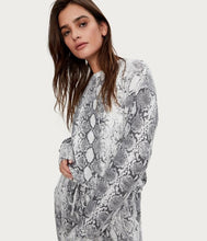 Load image into Gallery viewer, Michael Stars Gigi Snake Print Pullover