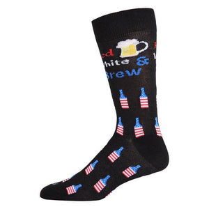 Red, White & Brew Crew Socks