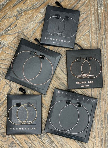 Secret Box 60MM Round Hoop Earring