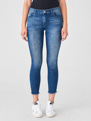 DL1961 Florence Crop Mid Rise Skinny in Stranded