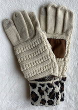 Load image into Gallery viewer, Leopard Solid Ribbed Gloves - Multiple Colors