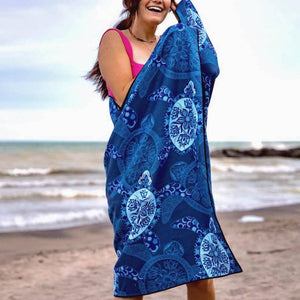 Beach Towel - Blue Turtles