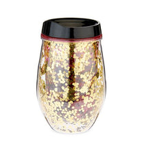 Load image into Gallery viewer, Blush 10 oz. Cosmo Glitter Stemless Wine Tumbler
