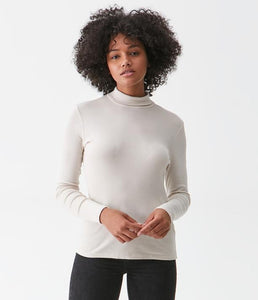Michael Stars Beth Supima Turtleneck Tee