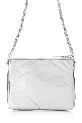Hi Love Travel Chain Collection Metallic Silver Purse