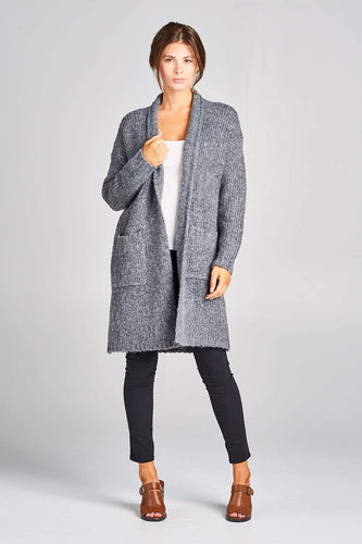 Renee C. Long Cardigan with Pockets