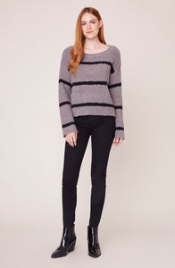 BB Dakota Chenille Deal Striped Sweater