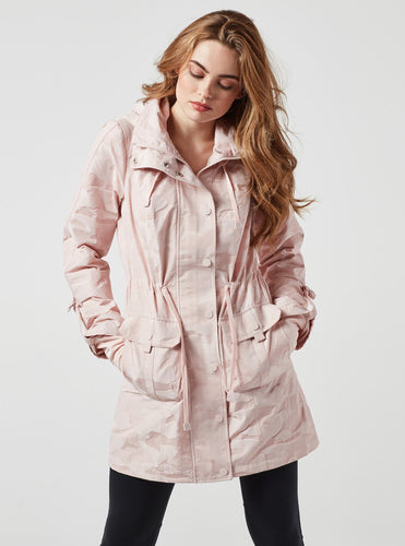 Blanc Noir Anorak Jacket in Light Blush