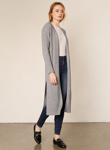 Cupcakes & Cashmere Paloma Ribbed Open Front Duster