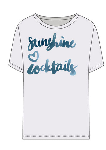 Chaser Brand Sunshine and Cocktails Graphic Tee