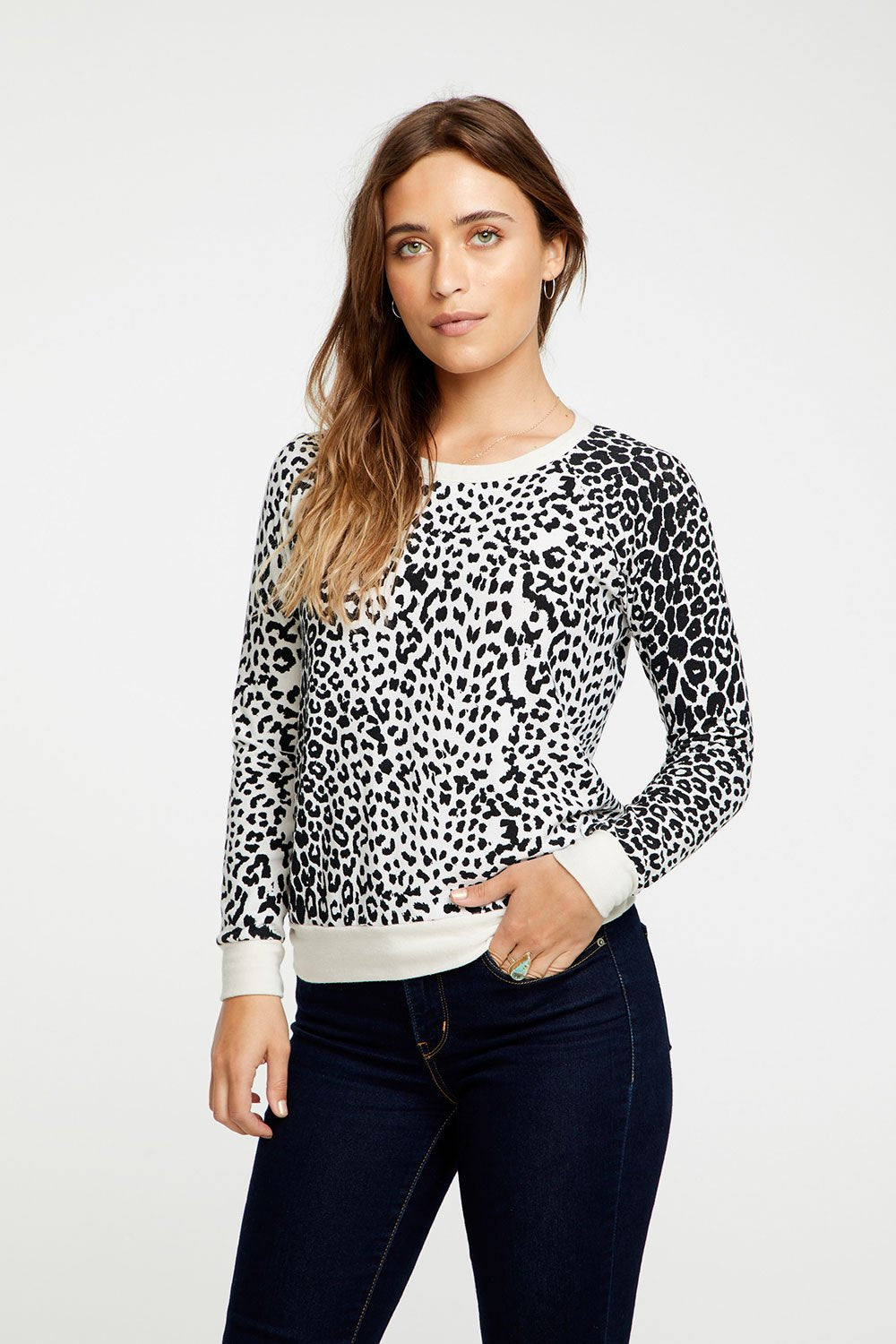 Chaser Brand Cheetah Print Pullover