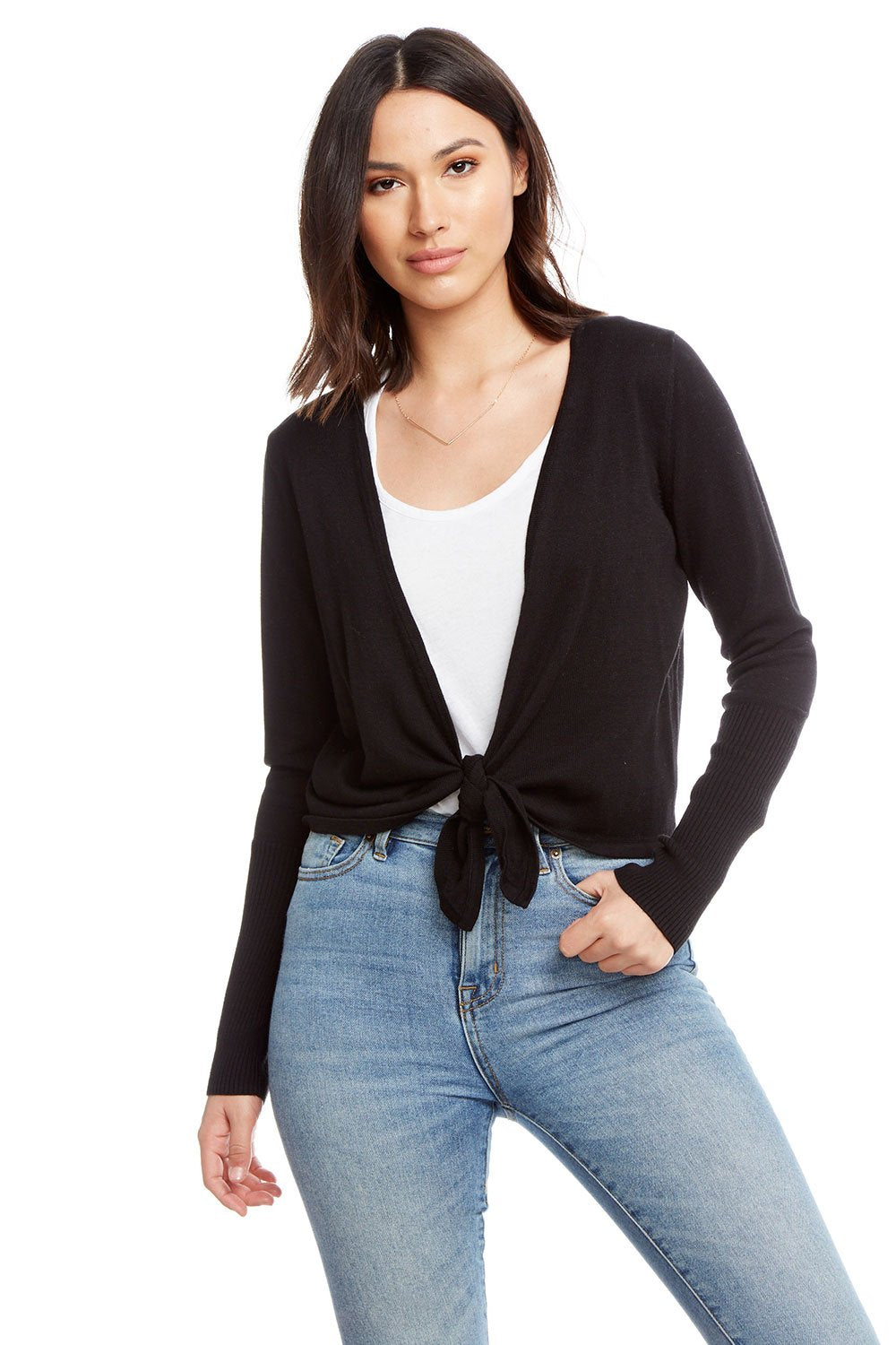 Chaser Brand Lightweight Sweater Tie Front Cardigan