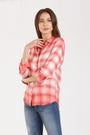 Dear John Sophia Dip Dye Plaid Shirt
