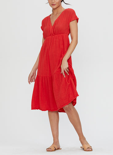 Michael Stars Illana Surplice Dress