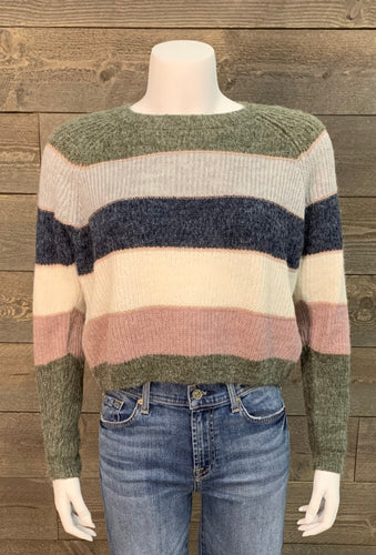 Only Clothing Brand Stripe Pullover Sweater