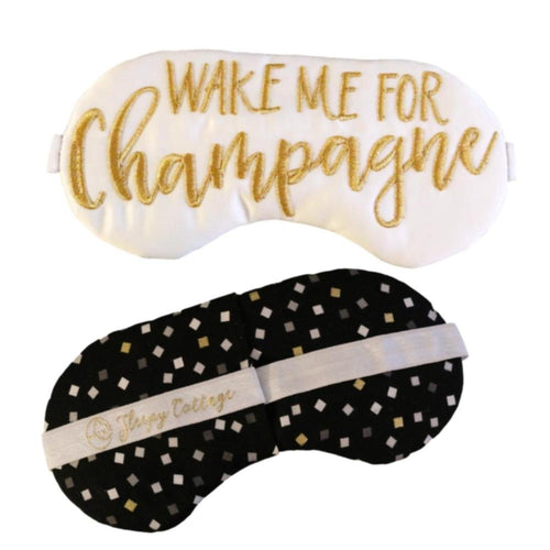 The Sleepy Cottage Wake Me For Champagne Eye Mask
