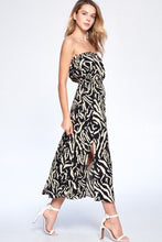 Load image into Gallery viewer, Crescent Heloise Zebra Tube Dress - Final Sale