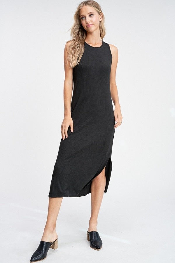 Crescent Jacquin Ribbed Maxi Dress - Final Sale