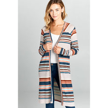 Load image into Gallery viewer, Renee C.  Long Sleeved Striped Cardigan
