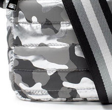 Load image into Gallery viewer, Think Royln Wingman Bag in Shiny Black Camo and Silver Camo