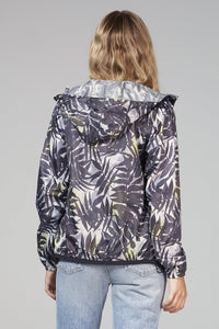 O8lifestyle Sloane Print - Palm Print Full Zip Packable Jacket