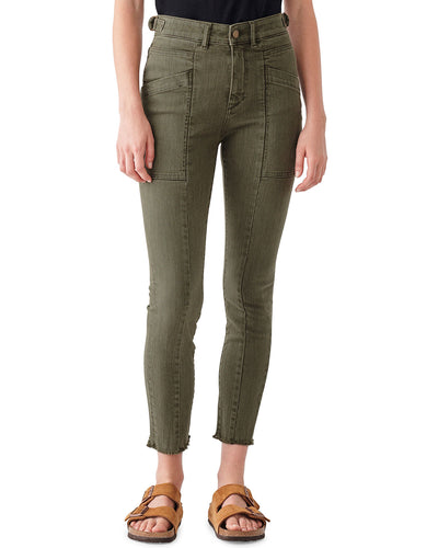 DL1961 Farrow Cropped High-Rise Skinny Jeans in Kale