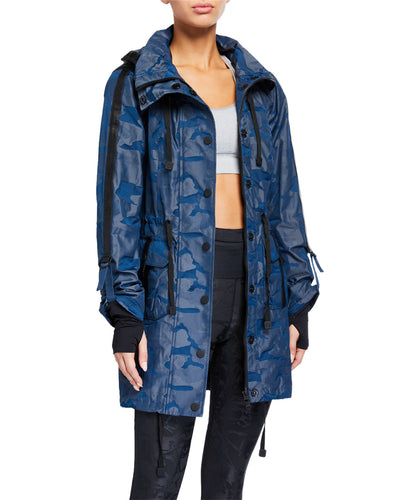 Blanc Noir Anorak Jacket in Blue Camo