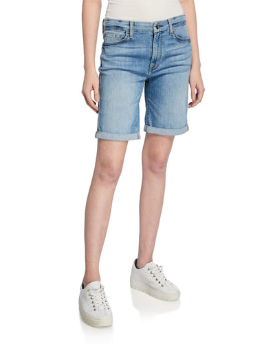 7 For All Mankind Jen7 Roll Cuff Bermuda Shorts