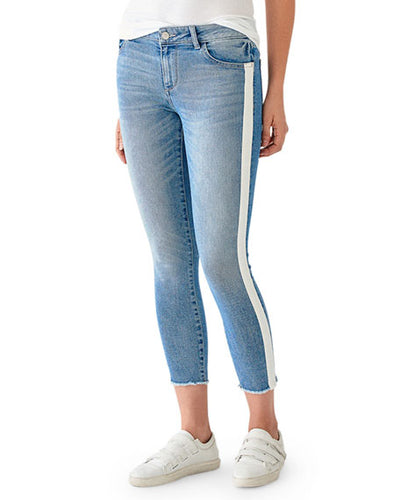 DL1961 Florence Cropped Mid-Rise Instasculpt Skinny in Sanders