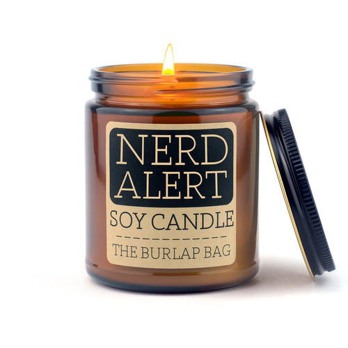 The Burlap Bag Nerd Alert Soy Candle