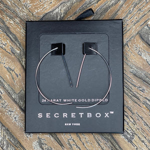 Secret Box 45MM Half Moon Pin Earring