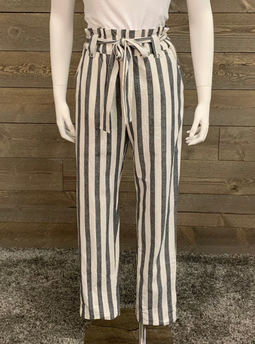 RD Style Grey and White Stripe Woven Pants