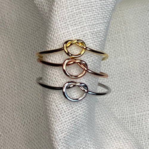 Multi Gold Dipped Knot Ring Set