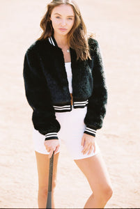 Shaci Osaka Faux Fur Bomber Jacket