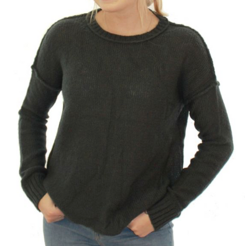 Wooden Ships Bella Back Seam Crew Sweater
