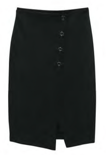 RD Style Black Pencil Skirt