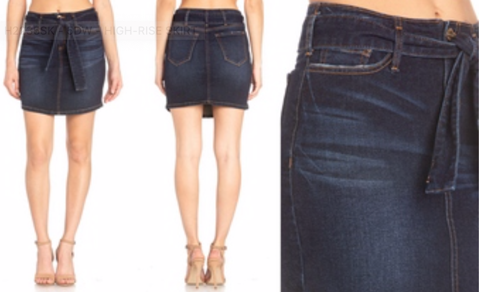 Miss Me High-Rise Denim Skirt