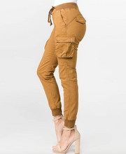 Load image into Gallery viewer, American Bazi Twill Cargo Jogger - Gold