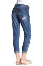 Load image into Gallery viewer, Distressed Boyfriend Jeans - Final Sale