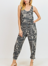 Load image into Gallery viewer, Camo French Terry Jumpsuit