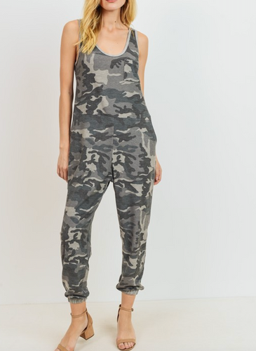 Camo French Terry Jumpsuit