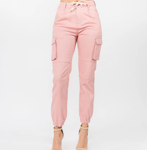 American Bazi Twill Cargo Jogger - Indie Pink