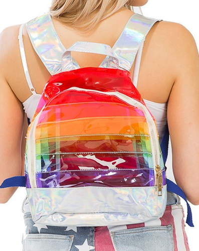 Plastic Rainbow Backpack