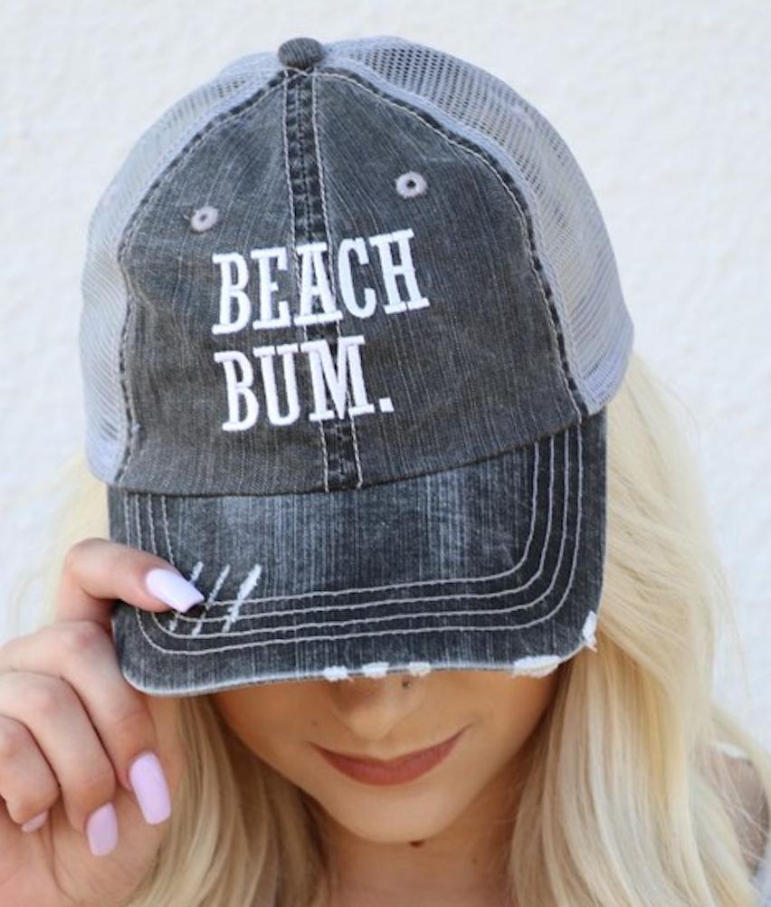 Beach Bum Distressed Cap