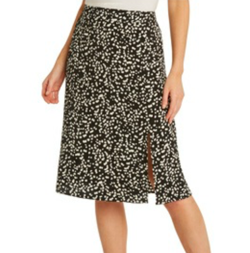 Midi Skirt with Side Slit