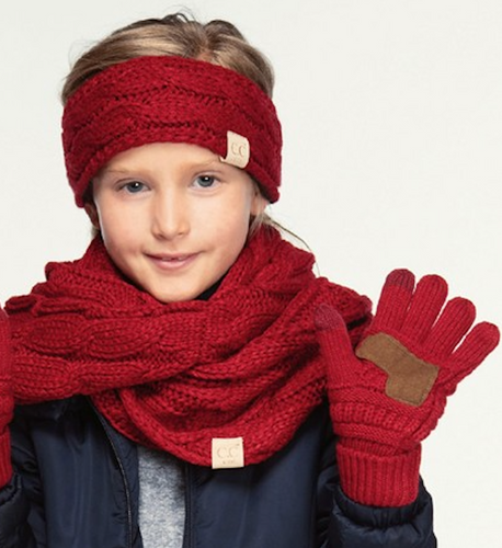 CC Brand Kid's Knitted Gloves - Multiple Colors