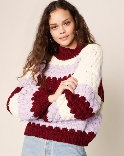 Hot Balloon Lavender Sweater