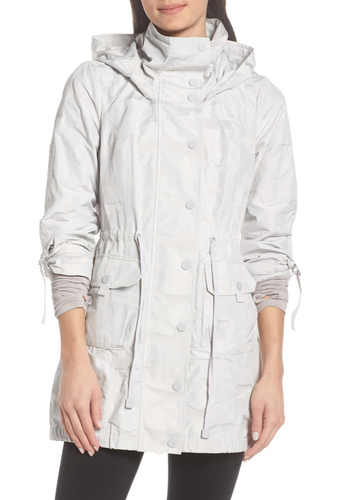 Blanc Noir Anorak Jacket in Light Grey Camo