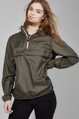 O8lifestyle Alex - Torba Quarter Zip Packable Rain Jacket